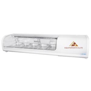 ✅ Migsa RTS-52L Vitrina Refrigerada para Sushi 🥇 Vidrio Curvo