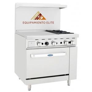 ✅ CookRite ATO-24G2B Estufa con Plancha 2 Quemadores y Horno 🥇