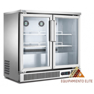 ✅ Migsa BE-SG-250 Refrigerador Back Bar de 2 Puertas de Cristal 🥇