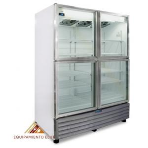 ✅ Nieto by Metalfrio RB-804 Refrigerador 🥇 4 Puertas de Vidrio