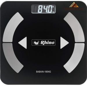 ✅ Rhino BABAIN-180NG Bascula Digital con Bluetooth para el Análisis de Grasa Corporal 🥇