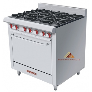 ✅ Coriat EC-6-HG MÁSTER Estufa de 6 Quemadores con horno 🥇 Premium