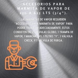 ✅ Accesorios para Marmita de Vapor de 250 a 625 Lts (3/4) 🥇