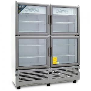 ✅ Imbera VR-35-4P Refrigerador 🥇 4 Puertas de Vidrio