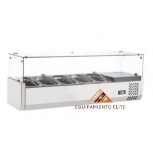 ✅ Migsa RT-1200L Vitrina Refrigerada para Ensaladas y Pizzas 🥇