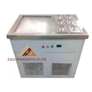 ✅ Migsa FIC-50S+6 Máquina de Helado Frito de 1 tina Rectangular + 6 Insertos 🥇