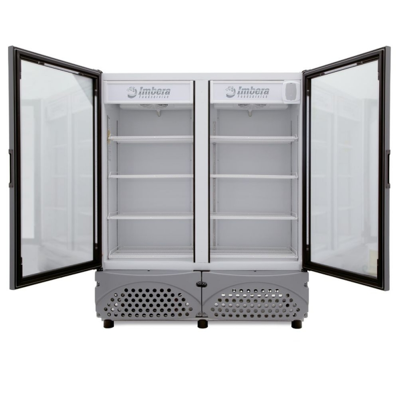 ✅ Imbera VR-35 Refrigerador 🥇 2 Puertas de Vidrio